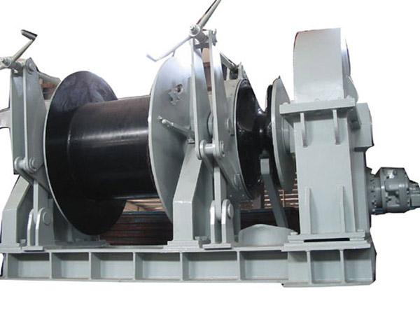 Vente de treuil d'ancre hydraulique à tambour unique pour bateaux