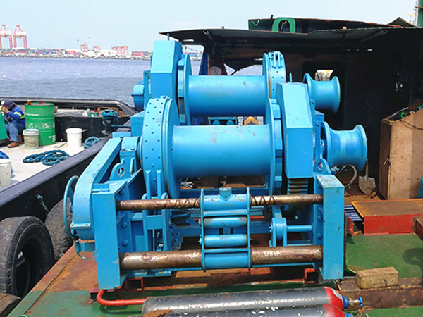 Double drum marine winch for sale