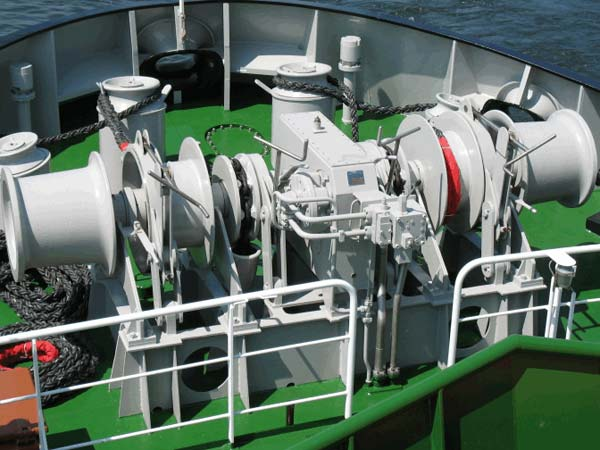 Hydraulic anchor mooring boat winch