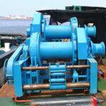double drum hydraulic marine winch