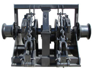 Quality double gypsy anchor chain winch
