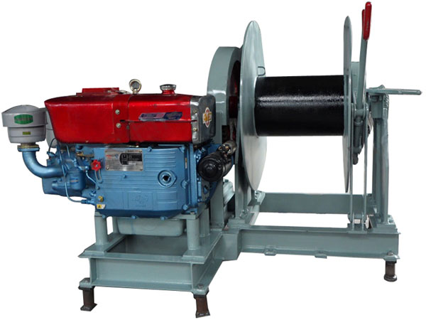 Diesel mooring winch for sale