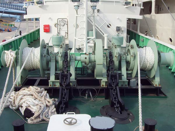 Double drum anchor mooring winch with high quality