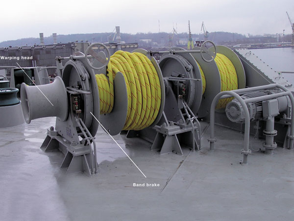 Double drum mooring windlass with good working performance