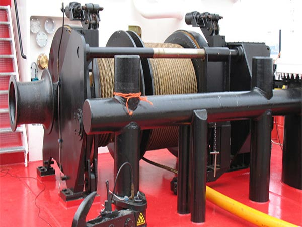 double drum vessel winch