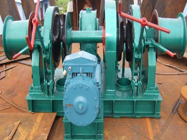 Double gypsy electric winch