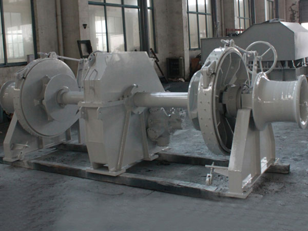 Hydraulic drum anchor winch