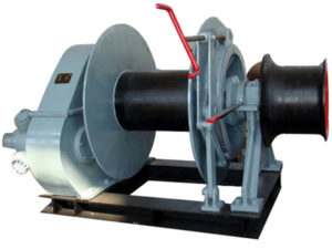 Mooring winch used on ships