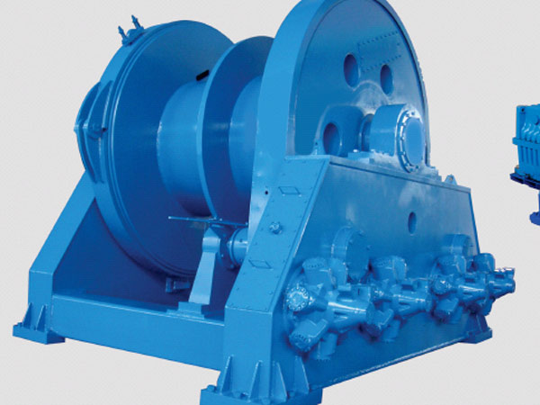 Towing winch used on ship