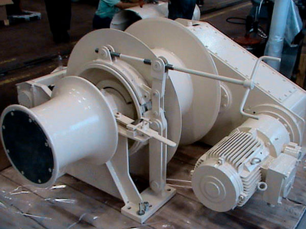 Single drum marine winch for sale