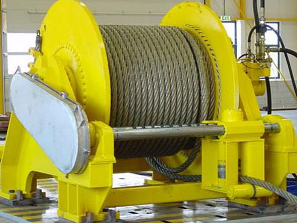 Single drum spooling winch for sale