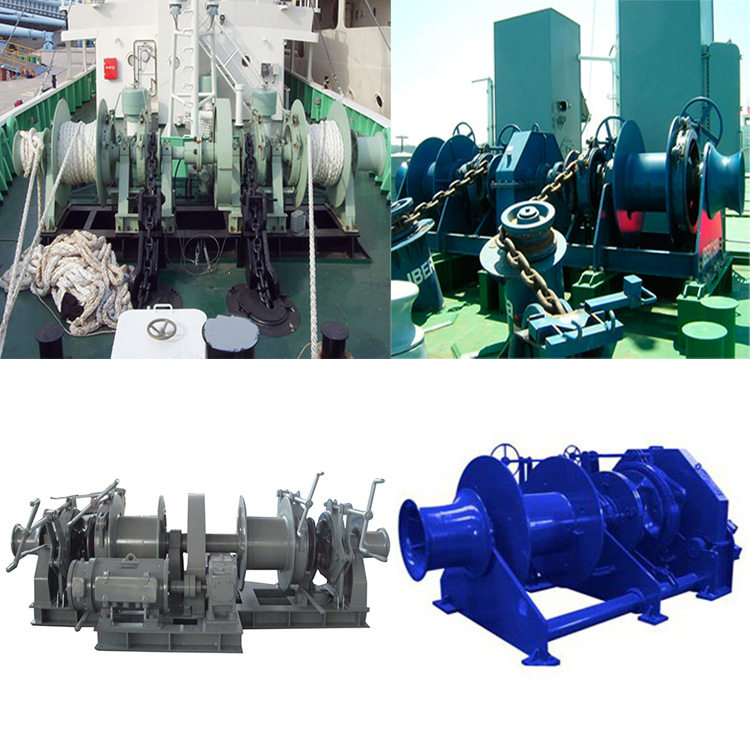 winches on ship