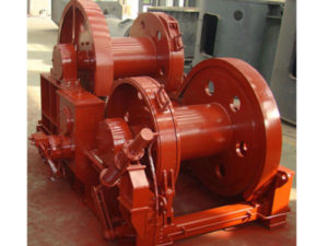 High quality hydraulic double drum winch