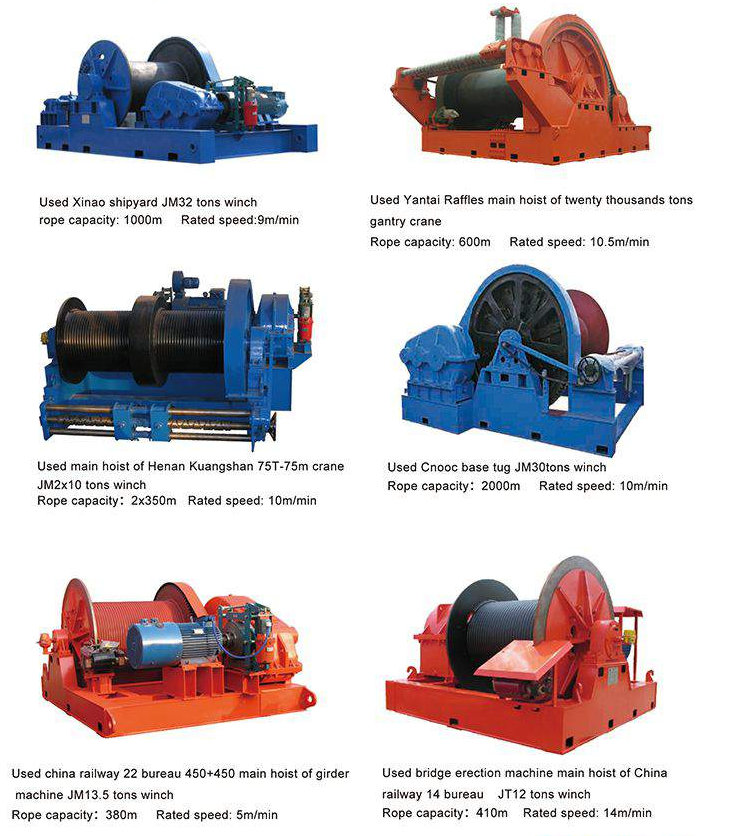 JM winches for sale