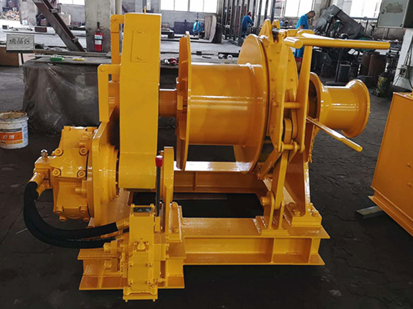 Single drum hydraulic mooring winch for sale