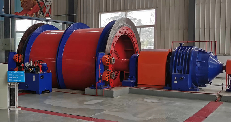 double drum mining winch