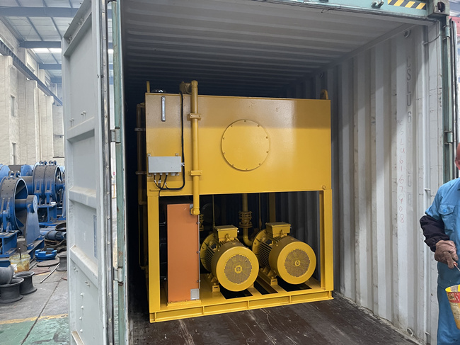 hydraulic pump station delivery